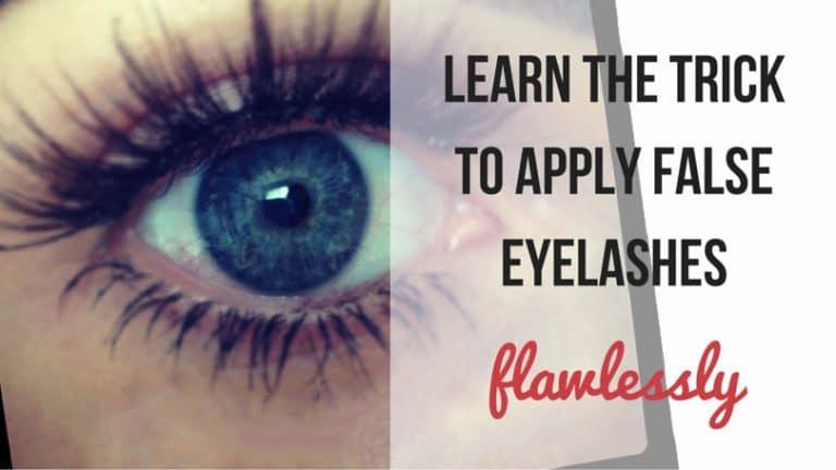 How to Put on False Eyelashes with 1 Trick