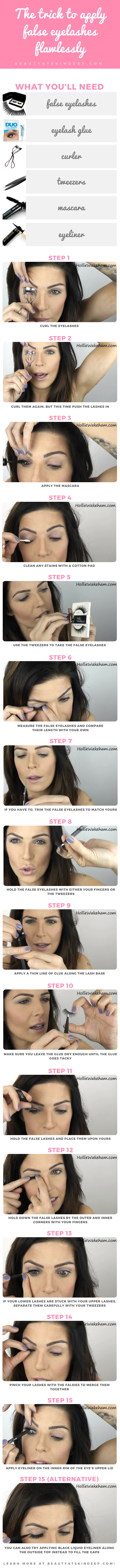 The Trick To Apply False Eyelashes Flawlessly - Step by step tutorial